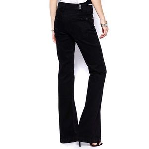 NWT 7FAM Black Flare Jeans Size 30